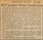 19510702-RET-zonder-Nieuw-Amsterdam, Verzameling Hans Kaper