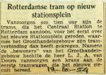 19541019 Rotterdamse tram op nieuw stationsplein
