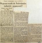 19550511 Waarom wordt de Nederlandse industrie gepasseerd