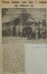 19550817-2-trams-van-lijn-1-op-elkaar, Verzameling Hans Kaper