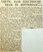 19550825 50 jaar electrische tram te Rotterdam (NRC)