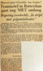 19551227 Tramtarief in Rotterdam nog niet omhoog