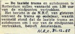 19551231 Laatste trams vertrekken om 01.30 uur (NRC)