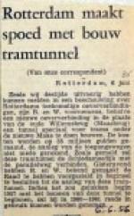 19560606 Rotterdam maakt spoed met bouw tramtunnel