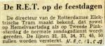 19580513 De RET op de feestdagen (NRC)