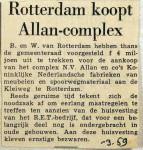 19590310 Rotterdam koopt Allan-complex