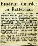 19610630 Bus en tram duurder in Rotterdam