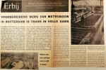 19610812 Voorbereidend metro-werk in volle gang
