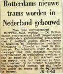 19630615 Rotterdamse nieuwe trams gebouwd in Nederland