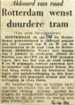 19641016 Rotterdam wenst duurdere tram