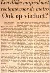 19660316 Reclame op viaduct. (HVV)