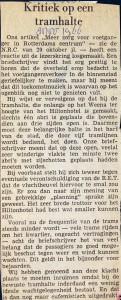 19661108 Kritiek op tramhalte.