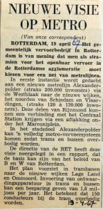 19670419 Nieuwe visie op metro