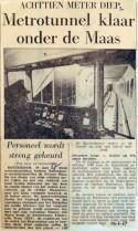 19670629 Metrotunnel klaar onder de Maas