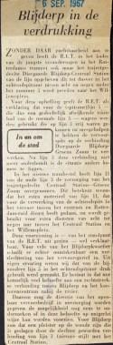 19670906 Blijdorp in de verdrukking.