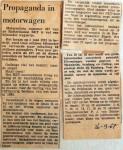 19670926 Mannenkoorpropaganda in motorwagen