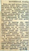 19671212 Half miljoen Rotterdammers een gratis rit