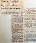 19680103 Groter verlies bij RET door weekabonnement