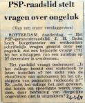 19680104 PSP raadslid stelt vragen over ongeluk