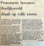 19680108 Protestactie bewoners Hordijkerveld