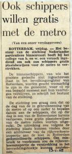 19680113 Ook schippers willen gratis met de metro