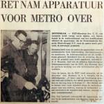 19680123 RET nam apparatuur voor metro over