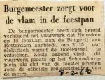 19680208 Burgemeester zorgt voor vlam in de feestpan