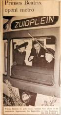 19680210 Prinses Beatrix opent Metro