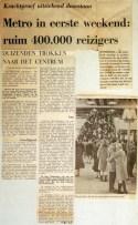 19680212 Metro in eerste weekend ruim 400.000 reizigers