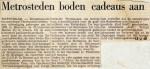 19680213 Metrosteden boden cadeaus aan