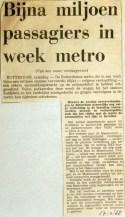 19680217 Bijna miljoen passagiers in week metro