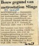 19680410 Bouw gegund metrostation Slinge