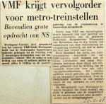 19680525 VMF krijgt vervolgorder voor metrotreinstellen