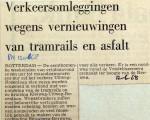 19680612 Verkeersomleggingen wegens nieuwe tramrails en asfalt