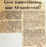 19680704 Geen tramverbinding naar Alexanderstad