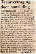 19680711 tramvertraging door aanrijding Crooswijksestraat