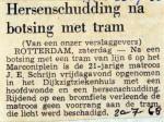 19680720 Hersenschudding na botsing met tram Marconiplein