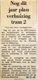 19680730 Nog dit jaar plan verhuizing tramlijn 2