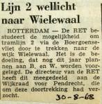 19680830 Lijn 2 wellicht naar Wielewaal