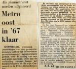 19680904 Metro Oost al in 1967 klaar