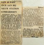 19680910 Lijn 48 past zich aan bij nieuw station Lombardijen