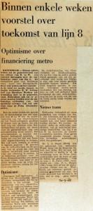 19680920 Binnen enkele weken voorstel over lijn 8