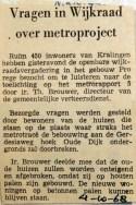 19681004 Vragen in Wijkraad over metroproject (NRC)