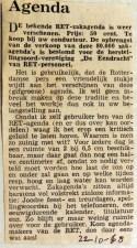 19681022 RET-zakagenda weer te koop