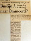 19681105 Buslijn straks hele dag naar Ommoord (HVV)