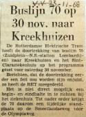 19681123 Buslijn 70 naar Kreekhuizen (HVV)