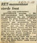 19681123 RET mannenkoor vierde feest (Parool)