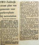 19681123 SWO Zuidwijk steunt plan parkeerplaats