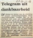 19681126 Telegram uit dankbaarheid (Parool)