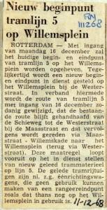 19681211 Nieuw beginpunt tramlijn 5 (RN)